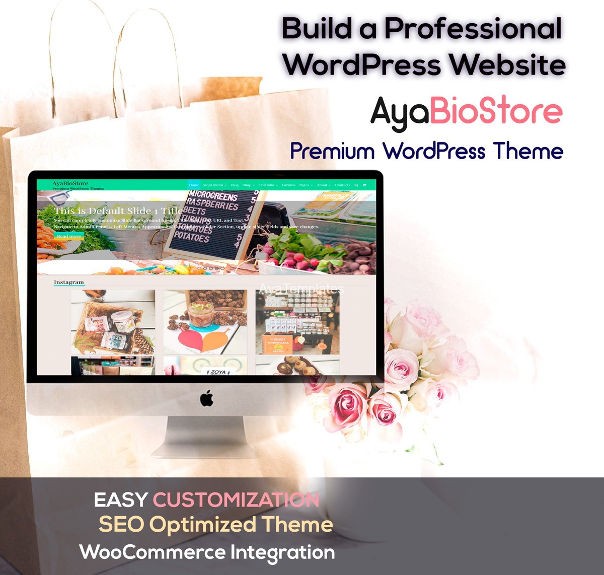 AyaBioStorePro-collage-premium-wordpress-theme