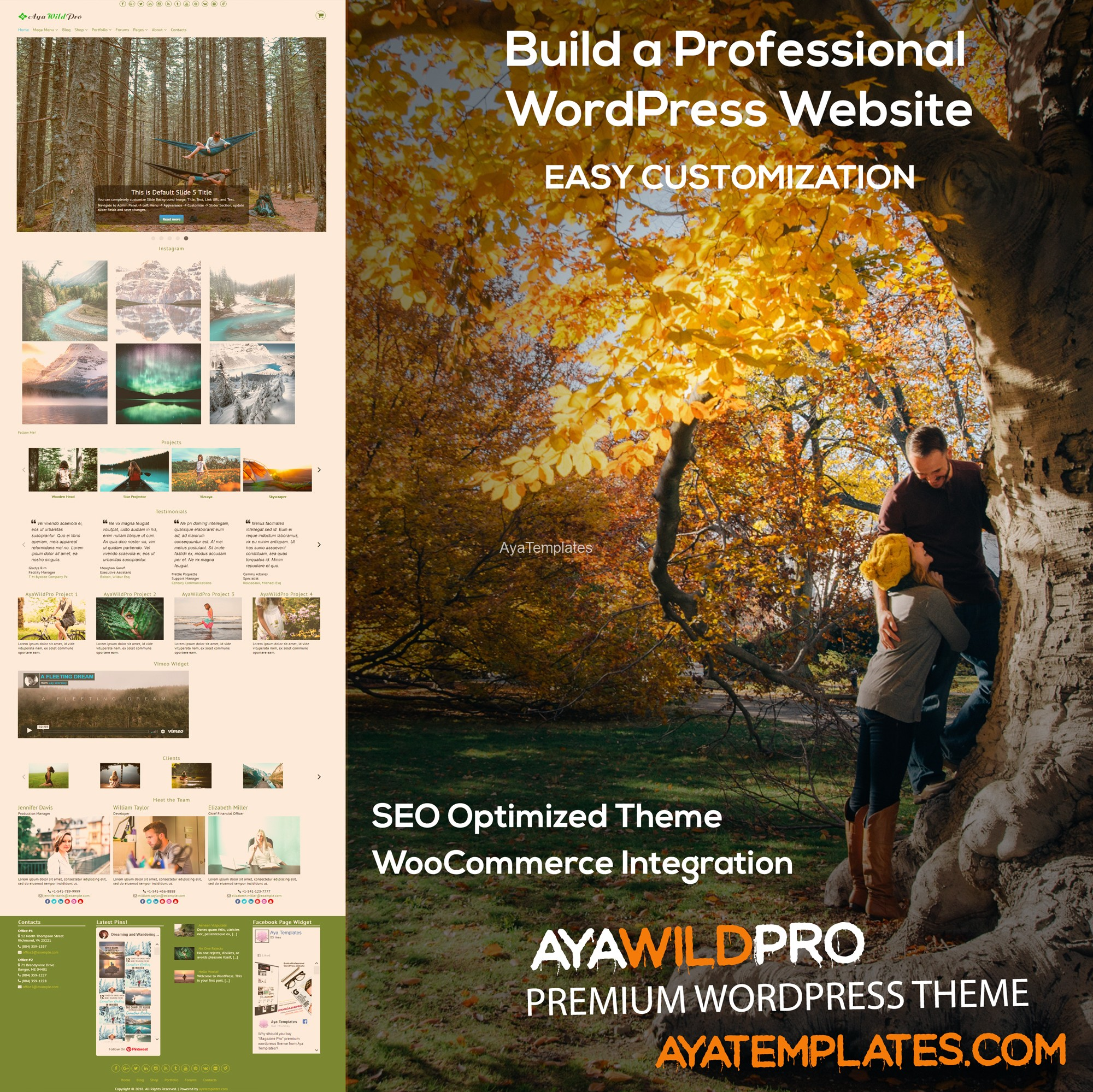 AyaWildPro-premium-wordpress-theme-mockup-collage-autumn-scheme-color