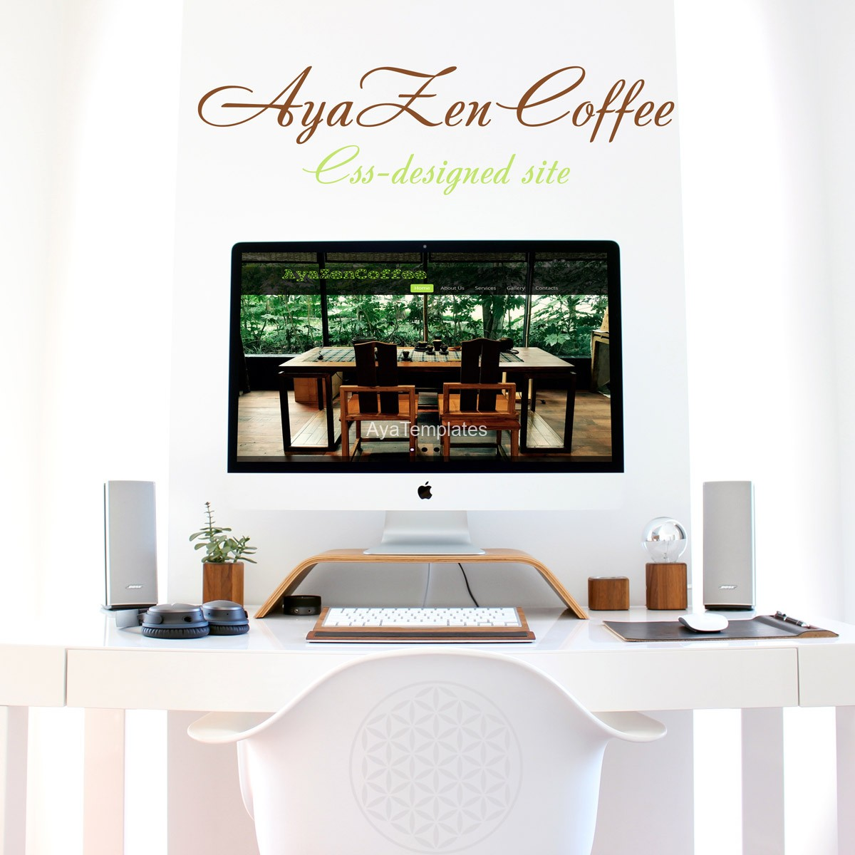 AyaZenCoffee-css-designed-site-ayatemplates
