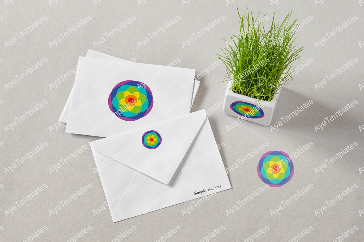 Beautiful-rainbow-flower-logo-design-branding-mockup1-ayatemplates