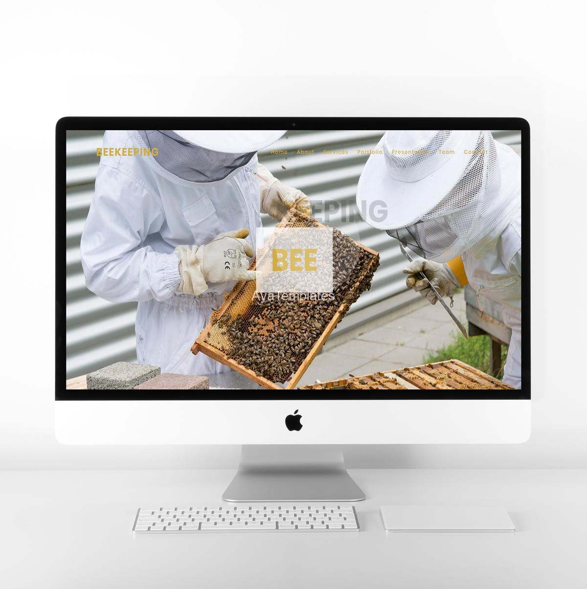 Beekeeping-one-page-website-ayatemplates