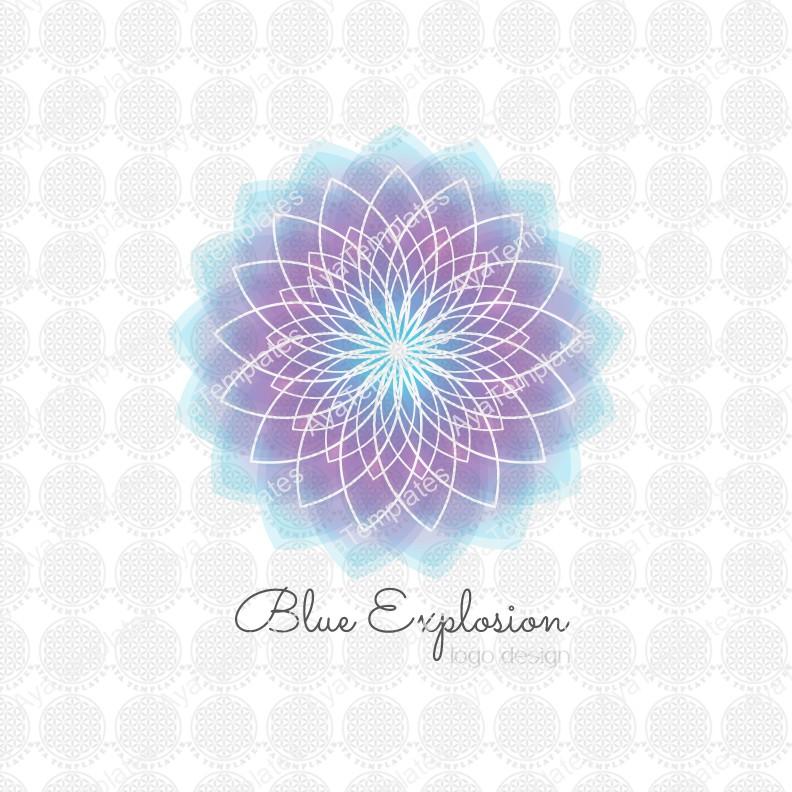 Blue Explosion flower logo design