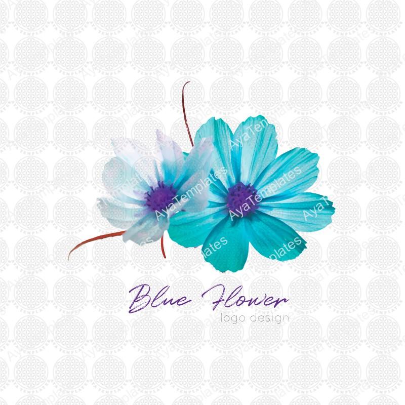 Blue-Flower-logo-design