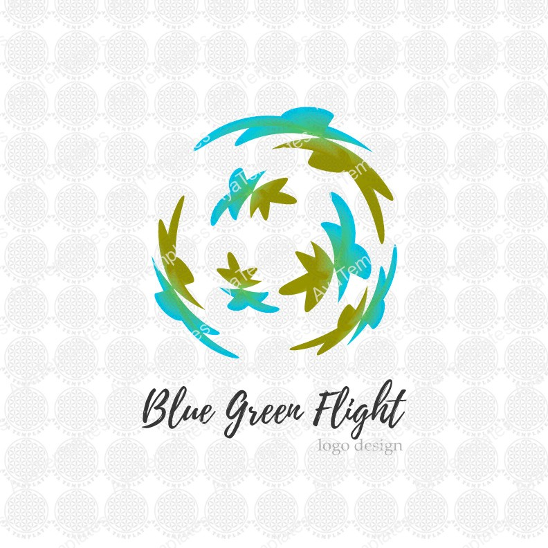 Blue-Green-Flight-logo-design