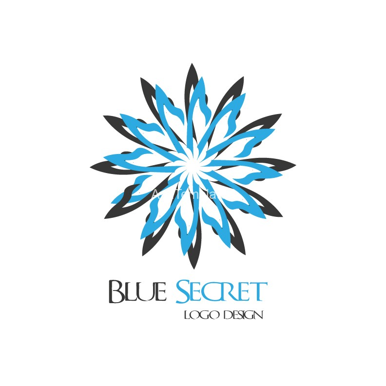 Blue Secret logo design
