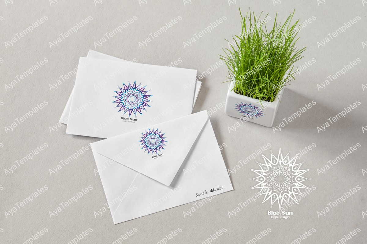 Blue-Sun-logo-design-brand-identity-mockup-ayatemplates