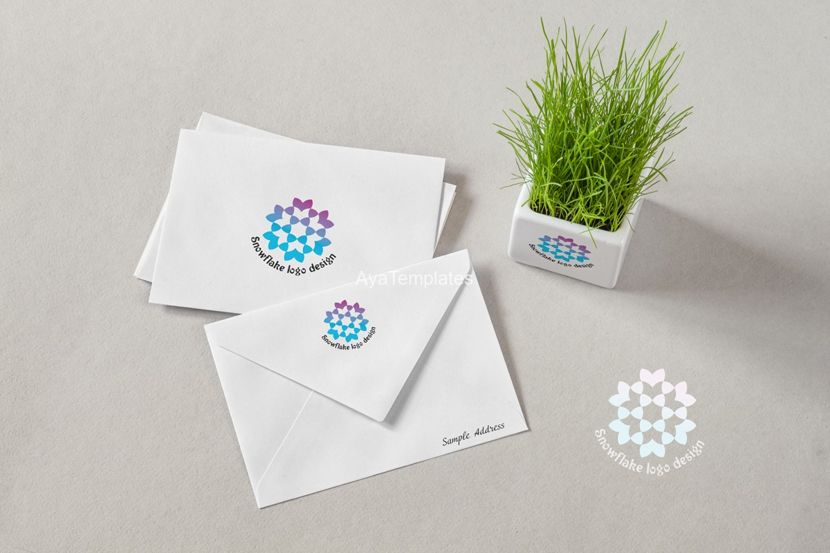 Blue-snowflake-logo-design-mockup1