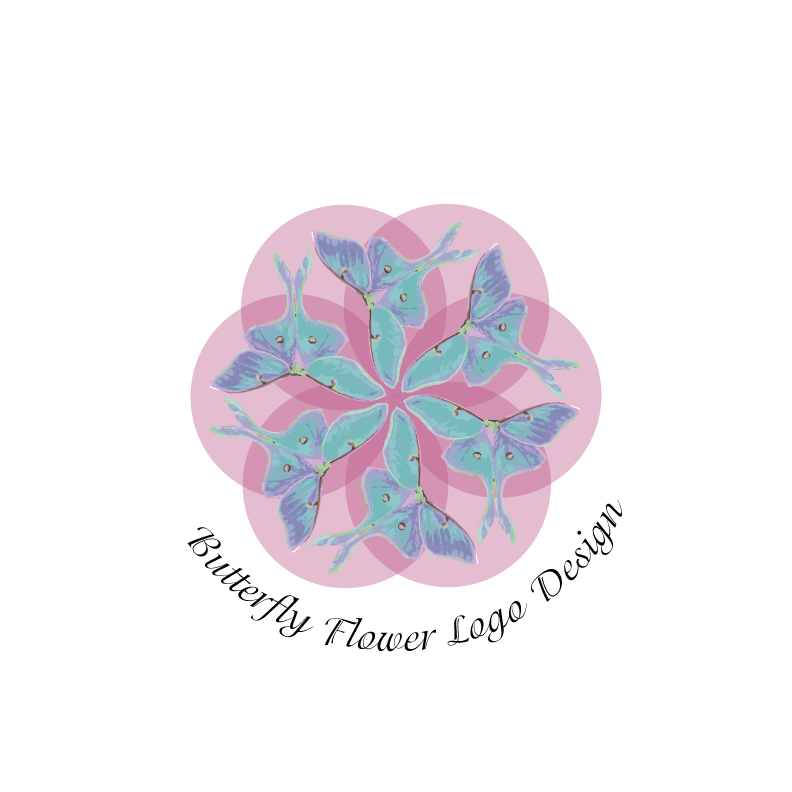 Butterfly-flower-logo-design