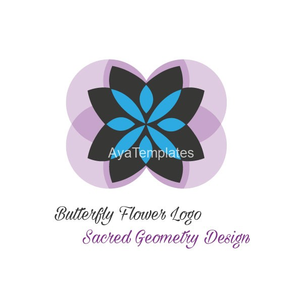 Butterfly-flower-logo-design
