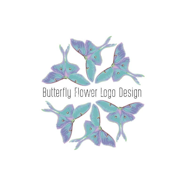 Butterlfy-flower-logo-design