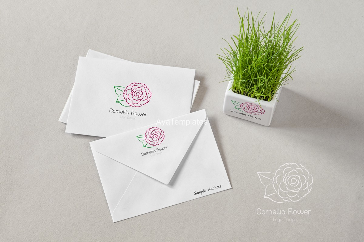 Camellia-logo-design-branding-mockup-ayatemplates
