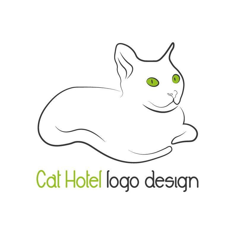 Cat-Hotel-logo-design
