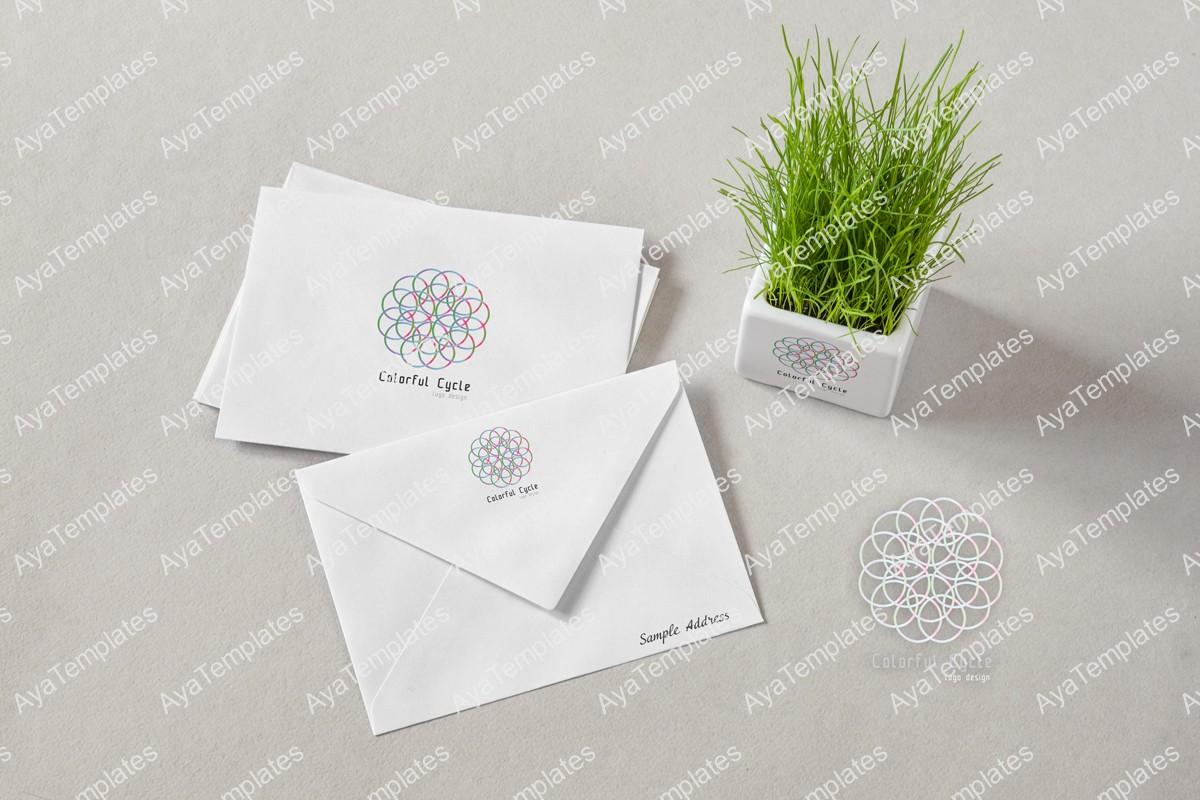 Colorful-Cycle-logo-design-branding-mockup---ayatemplates