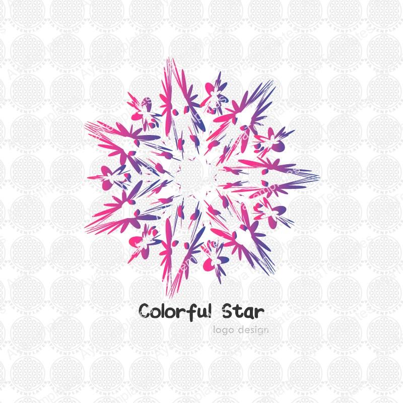 Colorful-star-flower-logo-design