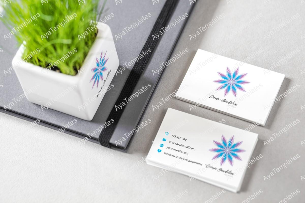 Cosmic-Dandelion-logo-design-brand-identity-mockup-ayatemplates