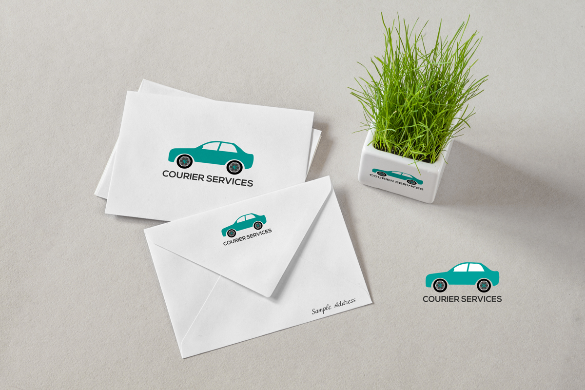 Courier-Services-logo-brand-identity-mockup