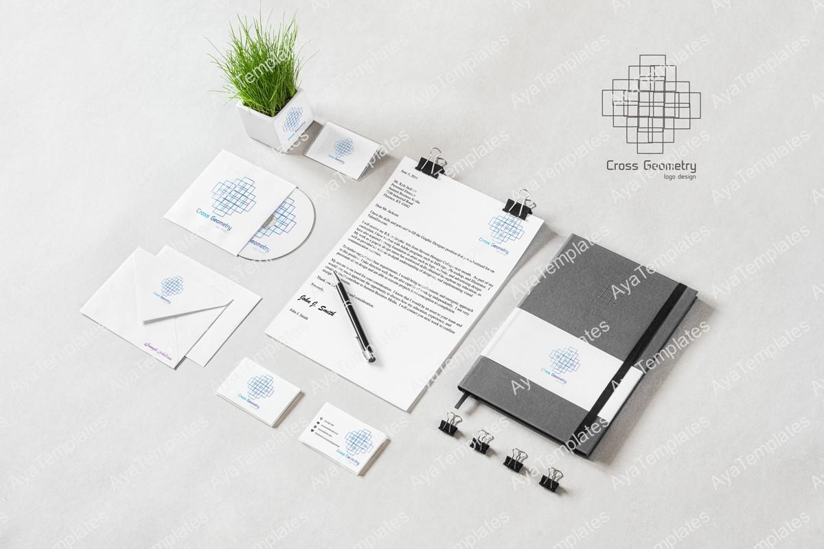 Cross-Geometry-logo-brand-identity-design-mockup-aya-templates