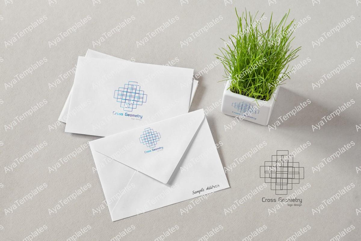 Cross-Geometry-logo-design-branding-mockup-aya-templates