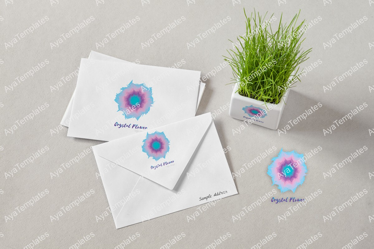 Crystal-flower-logo-design-branding-mockup-ayatemplates