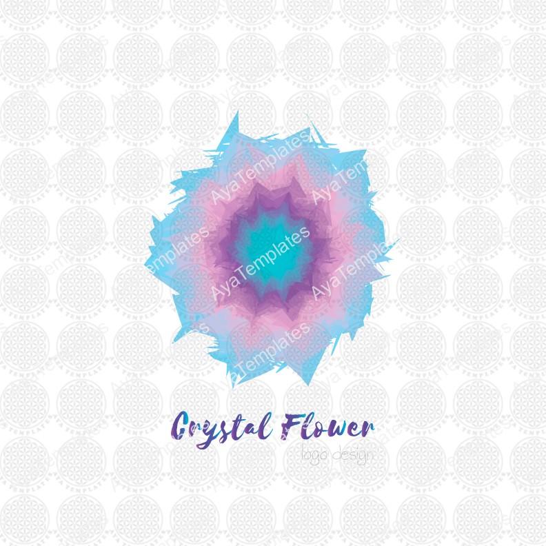Crystal-flower-logo-design