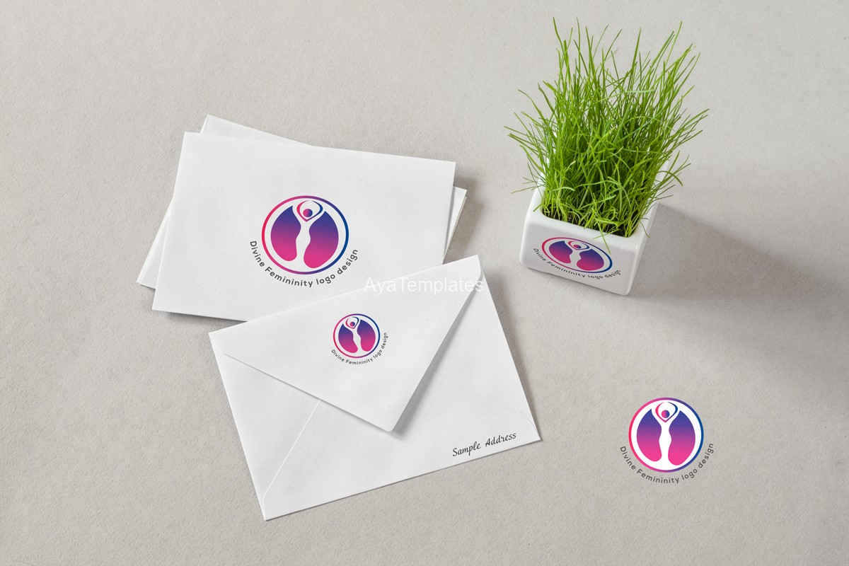 Divine-Femininity-logo-design---logo-and--brand-identity-mockup-design---ayatemplates