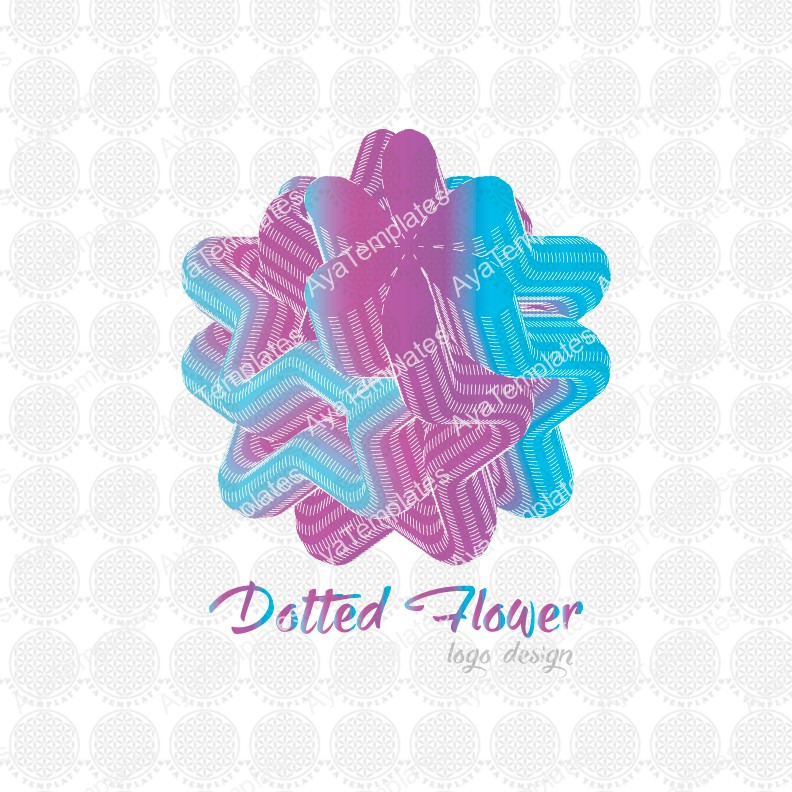 Dotted-Flower-logo-design