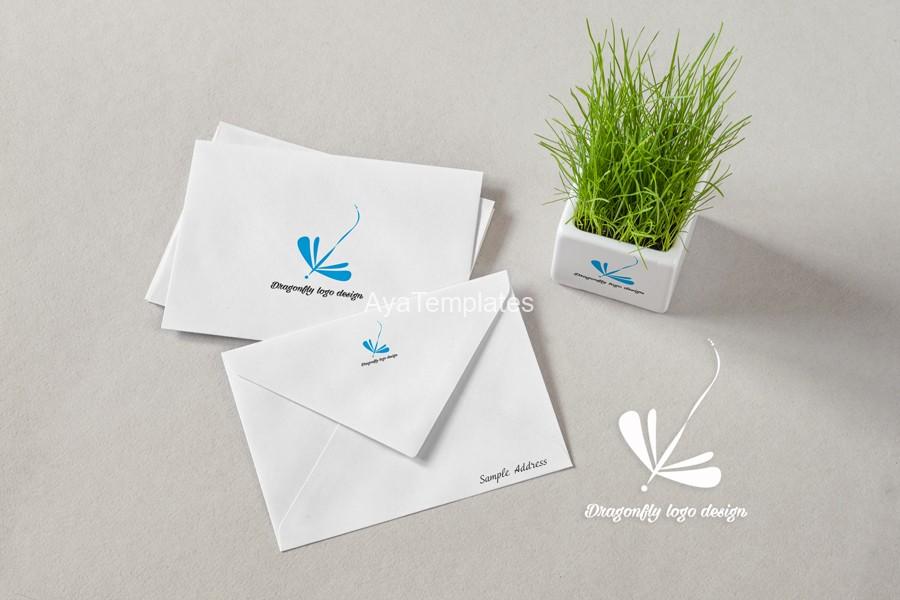 Dragonfly-logo-design-mockup2-branding-ayatemplates