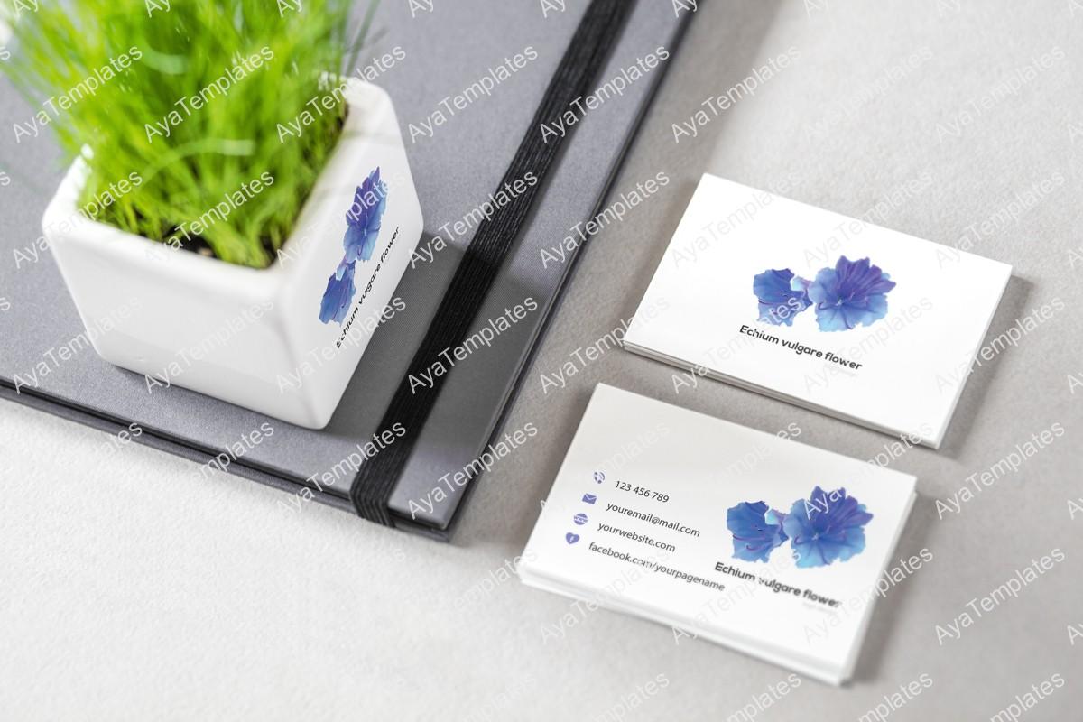 Echium-vulgare-flower-logo-design---branding--mockup-ayatemplates
