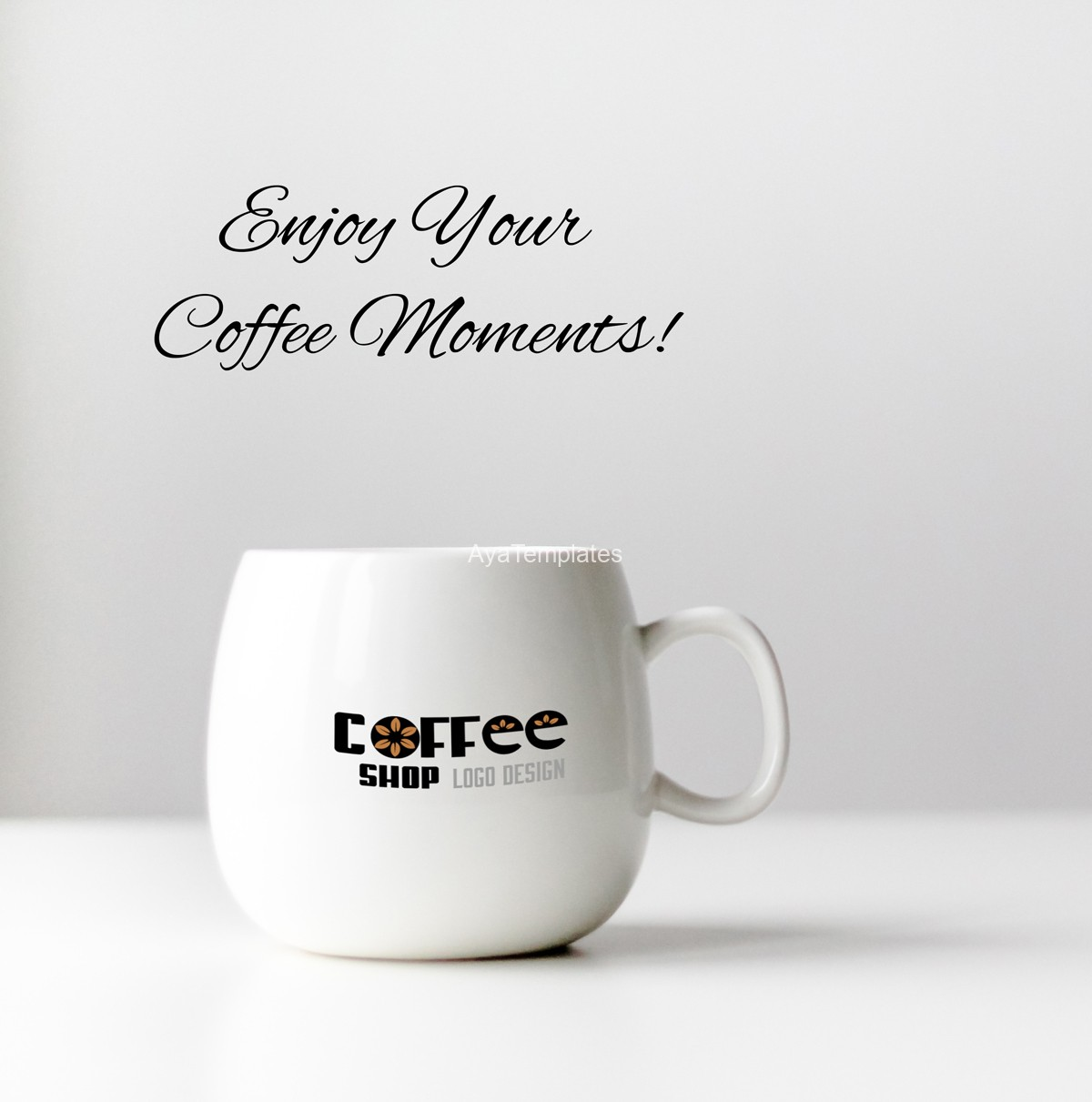 Enjoy-your-coffee-moments---cofee-shop-logo-design-and-branding