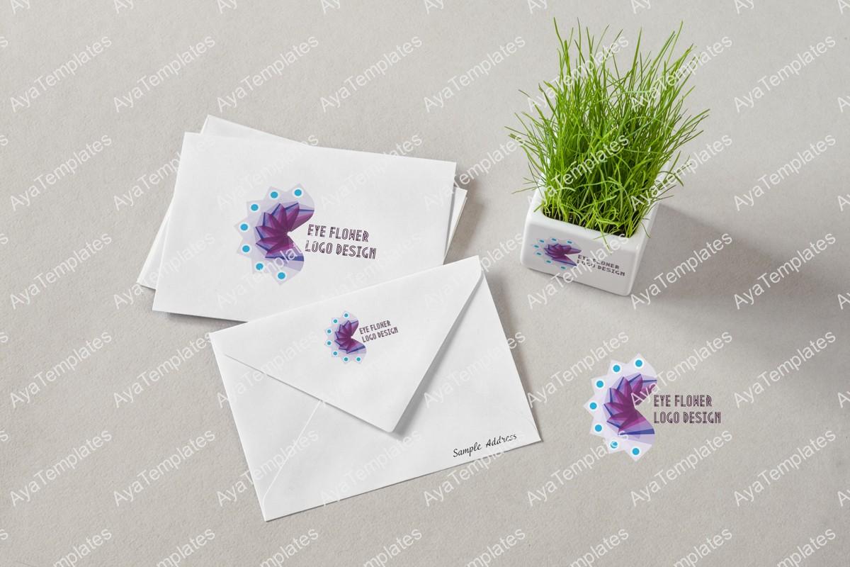 Eye-Flower-Logo-Design-mockup-lgoo-design-brand-identity---aya-templates