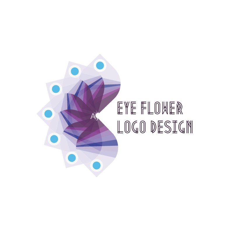 Eye-Flower-logo-design