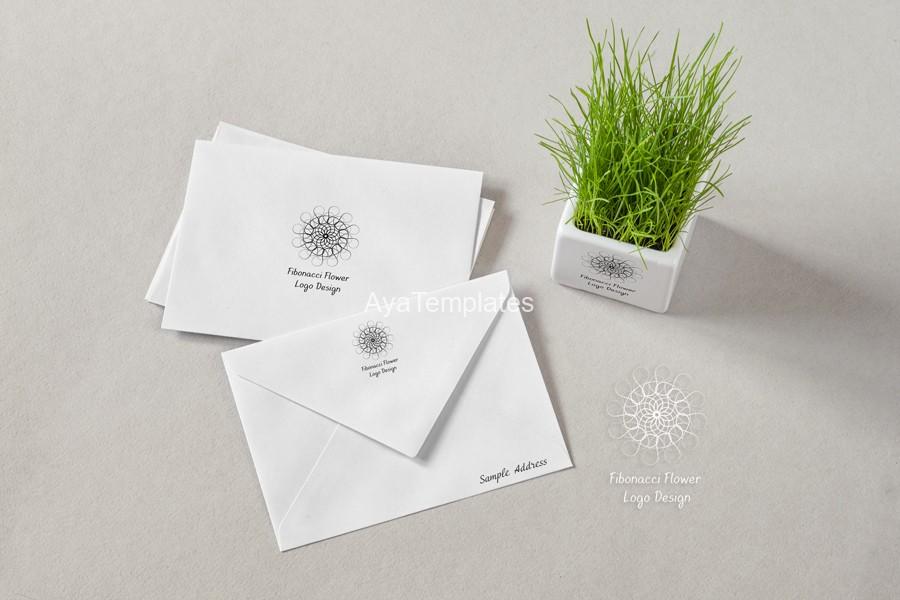 Fibonacci-flower-logo-design-mockup-branding-ayatemplates