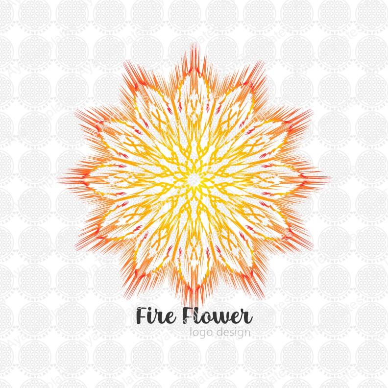 fire flower logo design
