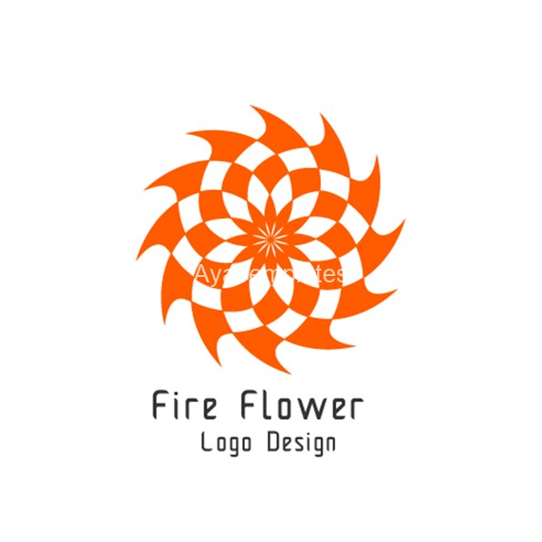 Fire-flower-logo-design-aya-templates