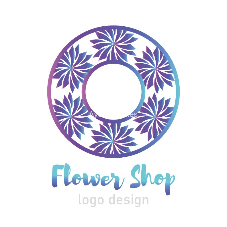 Flower-shop-logo-design-white