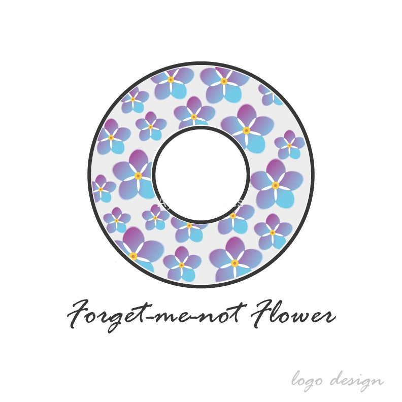 Forget-me-not-flower-logo