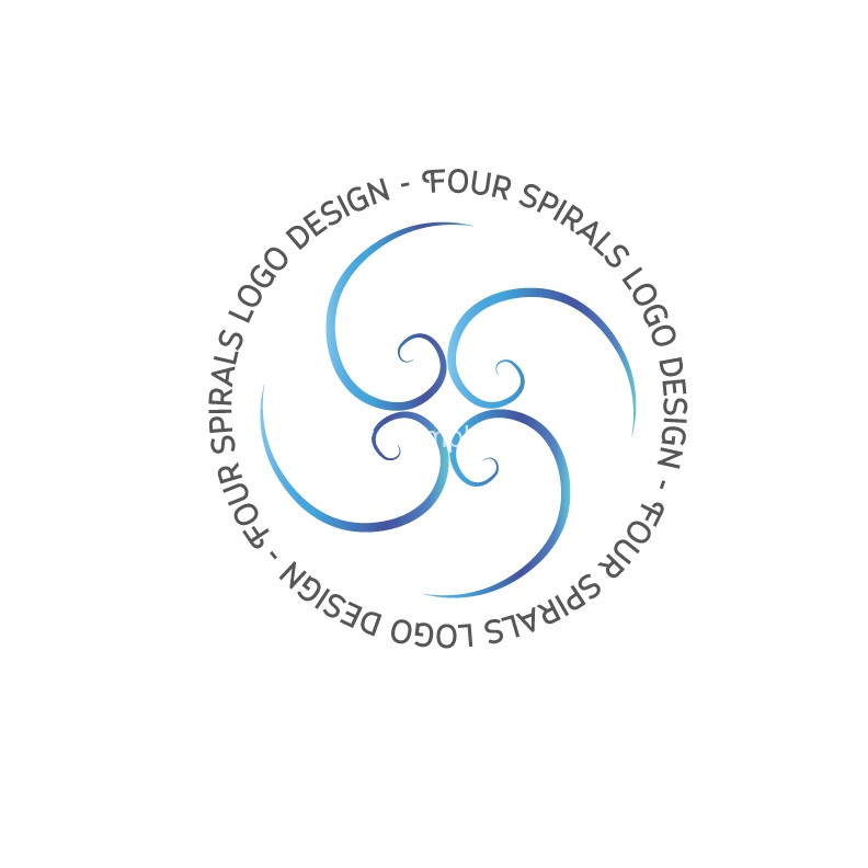 Four-Spirals-logo-design