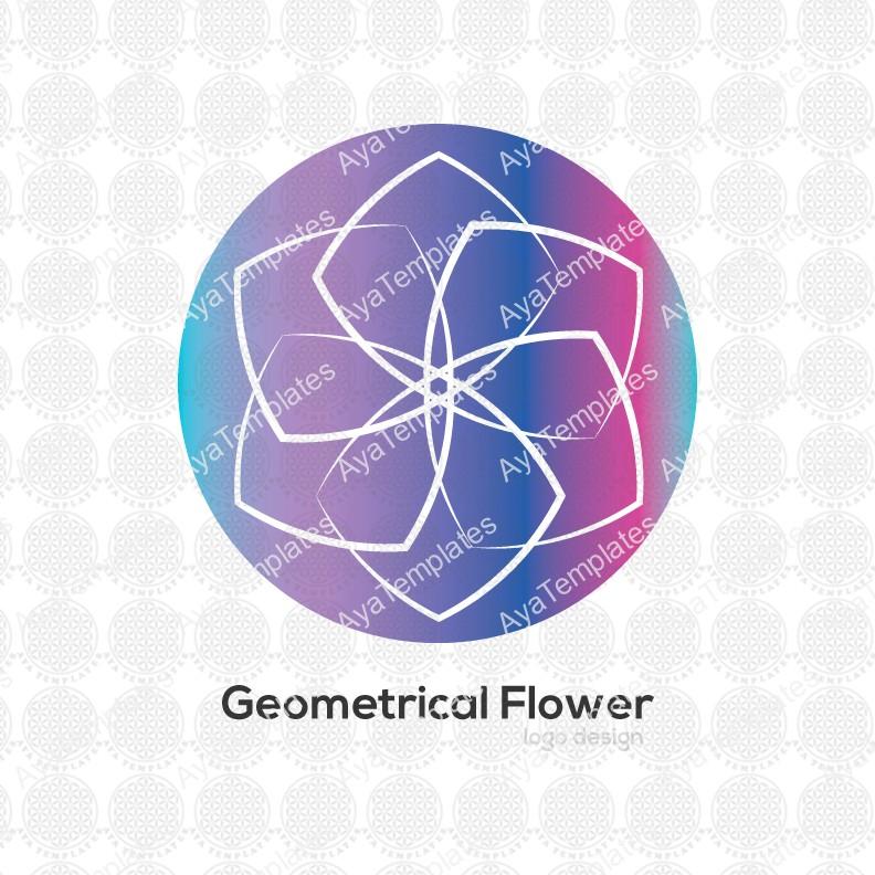 Geometrical-flower-logo-design
