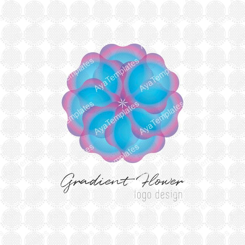 Gradient-Flower-logo-design