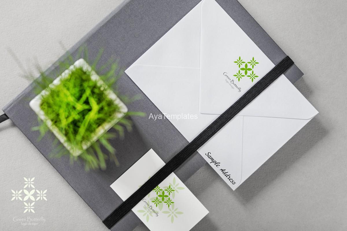 Green-Butterfly-logo-design-brand-identity-mockup-ayatemplates