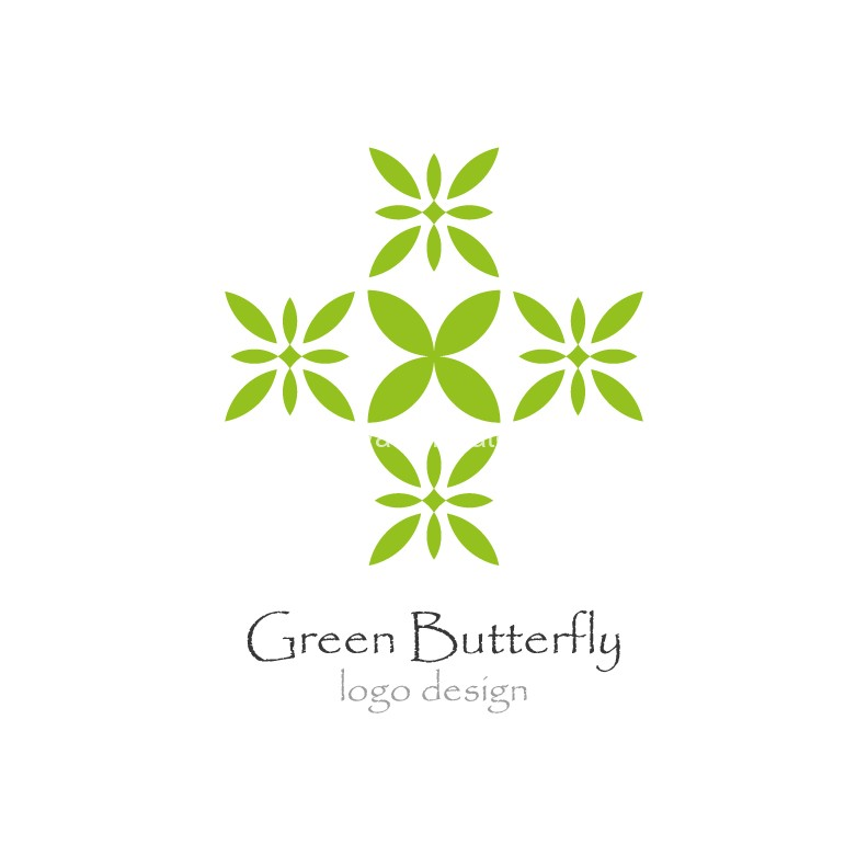Green-Butterfly-logo-design