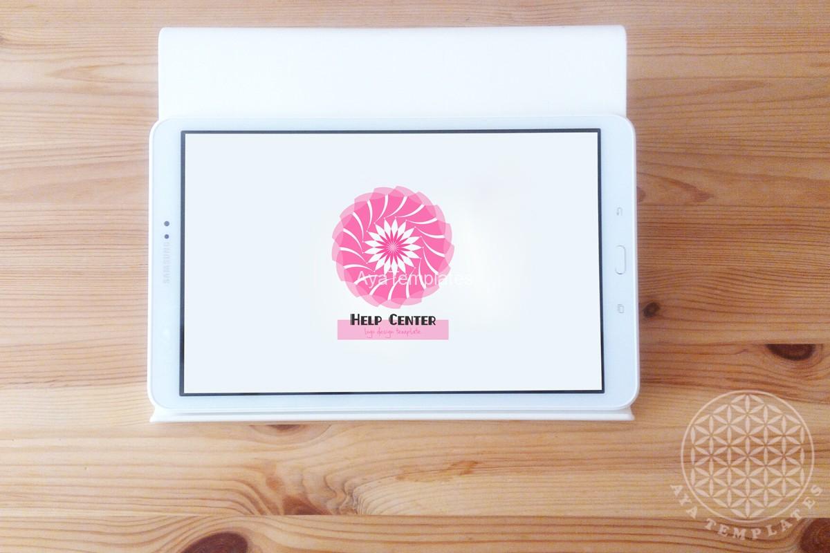 Help-center-logo-design-branding-mockup-tablet