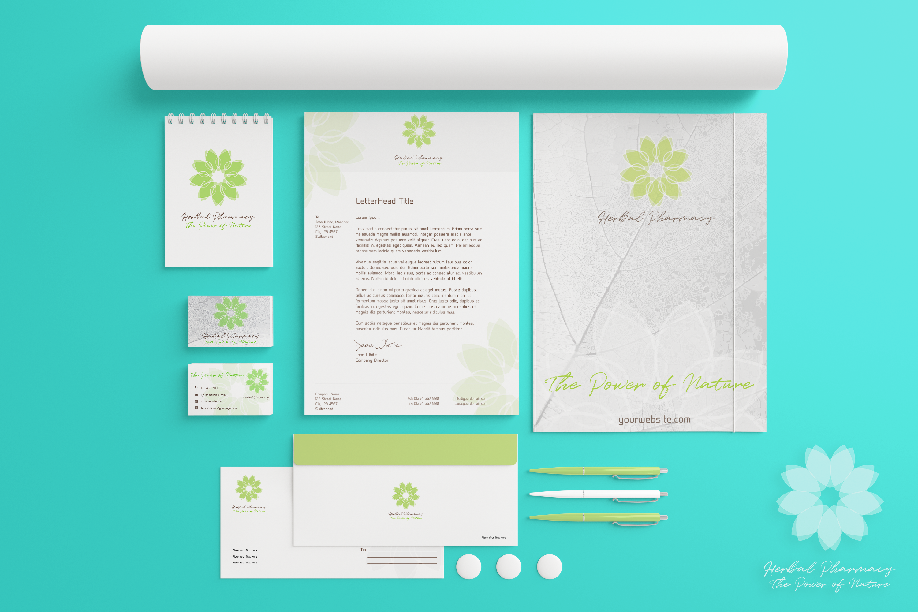 Herbal-Pharmacy-branding-package-marketing-elements---brand-identity-design-mockup1