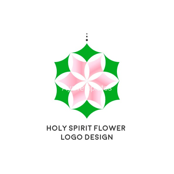Holy-spirit-flower-logo-design-aya-templates