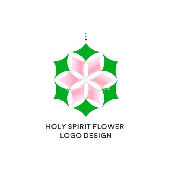 Holy-spirit-flower-logo-design-aya-templates