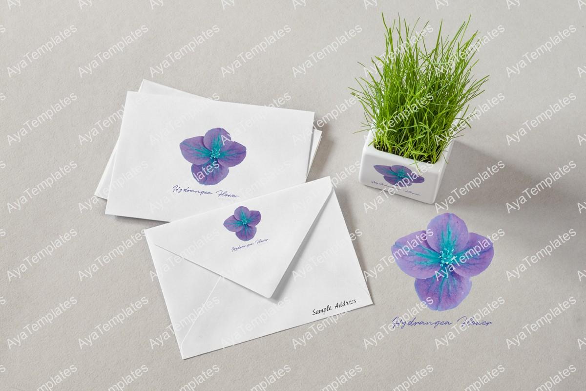 Hydrangea-flower-logo-brand-identity-design-mockup-ayatemplates