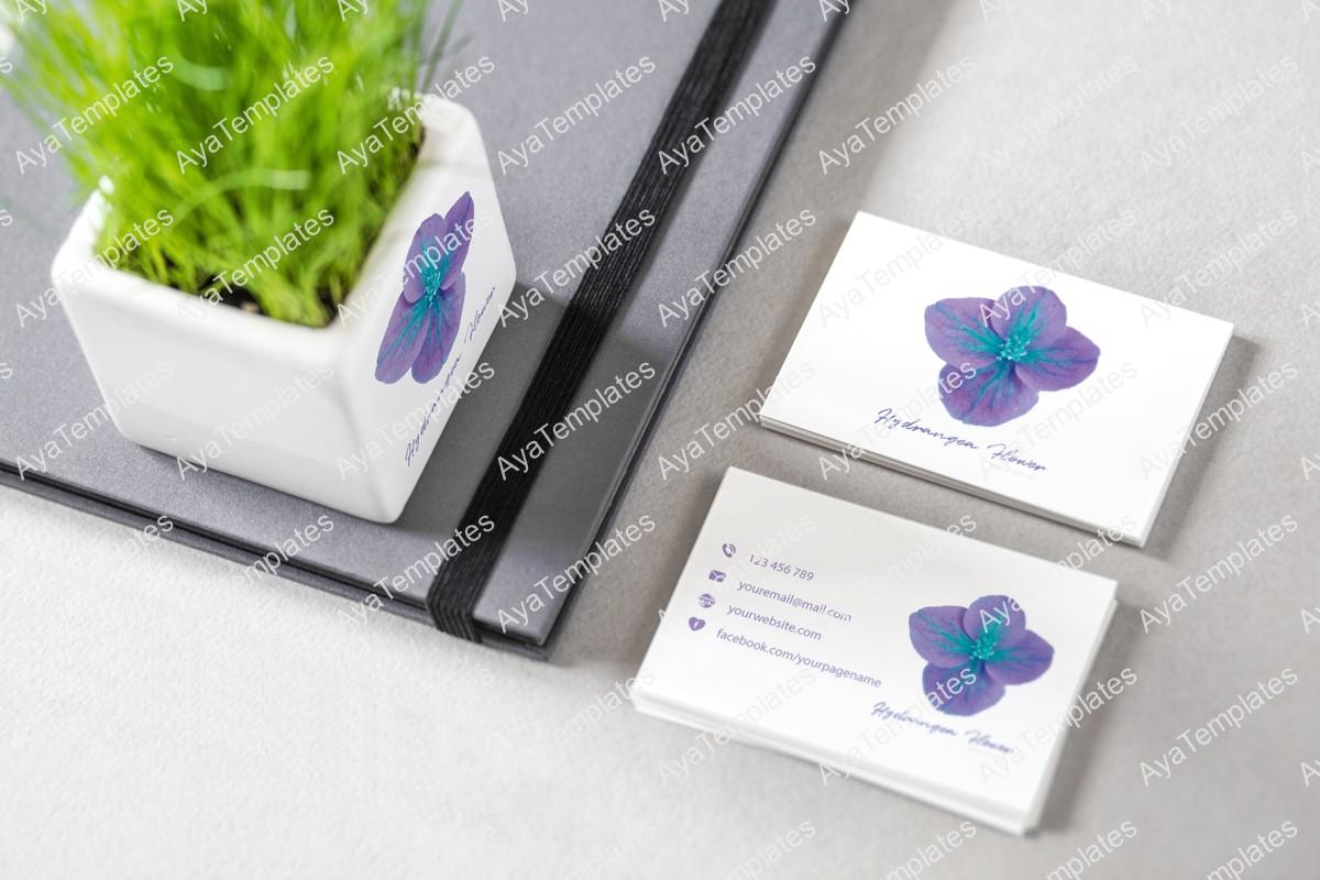 Hydrangea-flower-logo-design-mockup-ayatemplates-branding