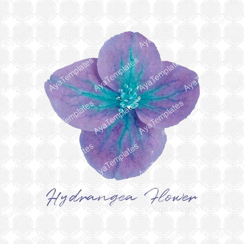 Hydrangea-flower-logo-design