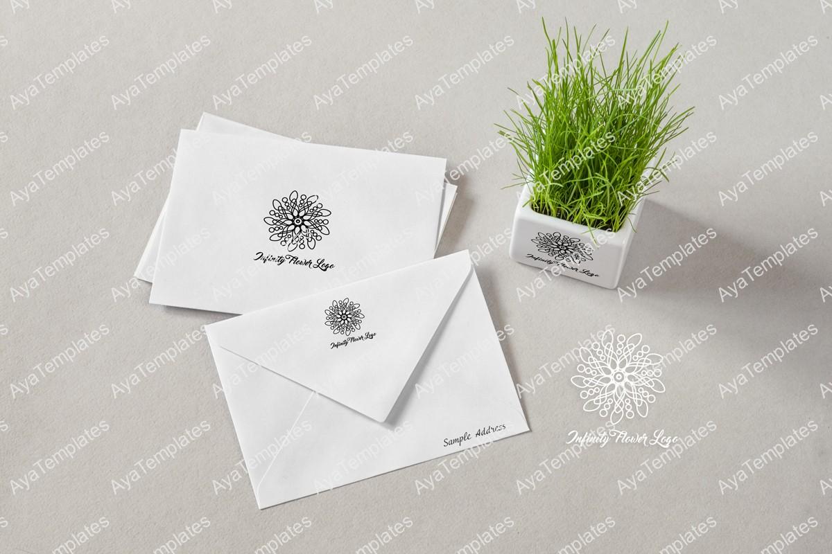 Infinity-flower-logo-design-branding-mockup2-ayatemplates