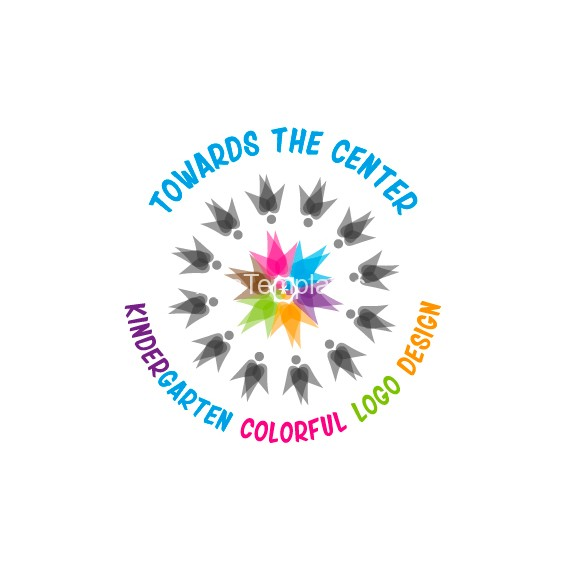 Kindergarten-Colorful-Logo-Design